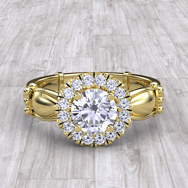Gold Engagement Ring - 05GG02
