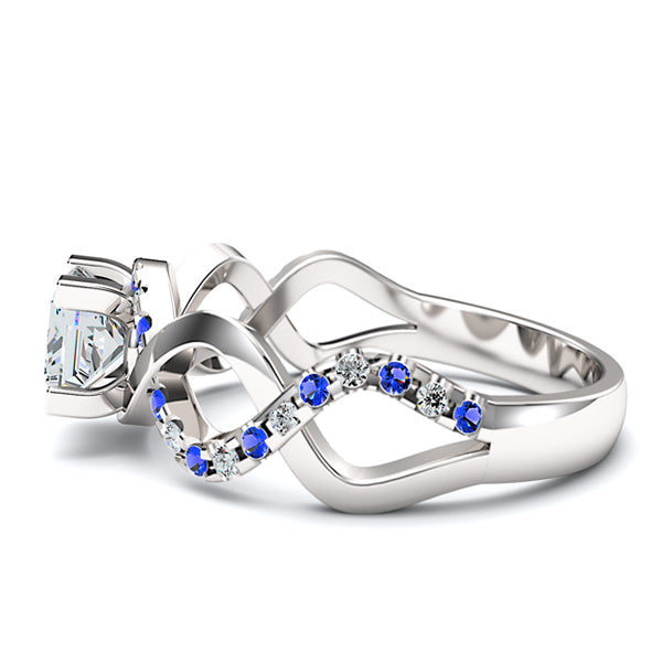 Sapphire Intertwined Engagement Ring - 05GG24