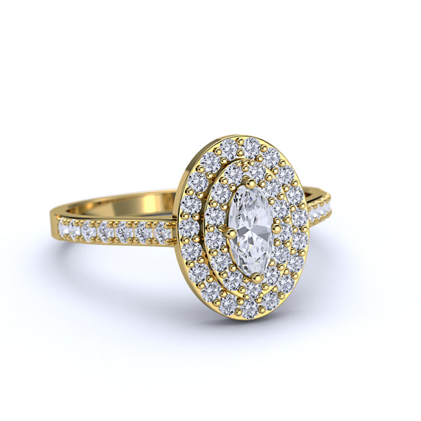 Gold Engagement Ring - 05GG38