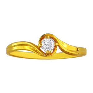 Yellow Gold Diamond Promise Ring