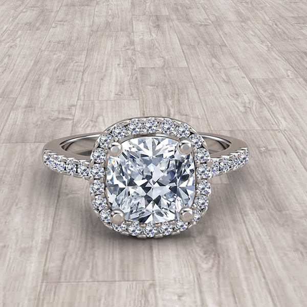 Cushion Cut Gold Engagement Ring - 05GG44