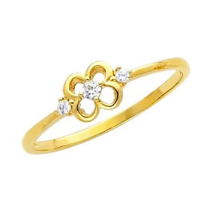 Yellow Gold Promise Ring Band