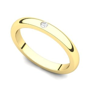 Yellow Gold set Diamond Wedding Band