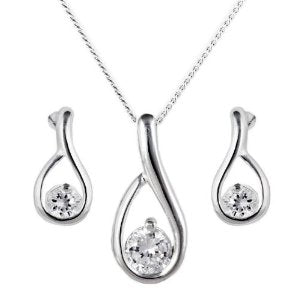 Loop Pendant and Earring Set