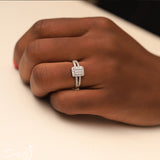 Sterling Silver Engagement Ring - 06AS46