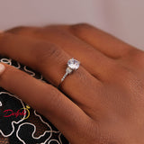 Sterling Silver Engagement Ring - 06AS90