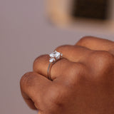 Sterling Silver Engagement Ring - 06AS96