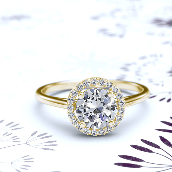 1.1ct Gold Engagement Ring - 06GG05