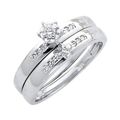 White Gold Women's Bridal Set