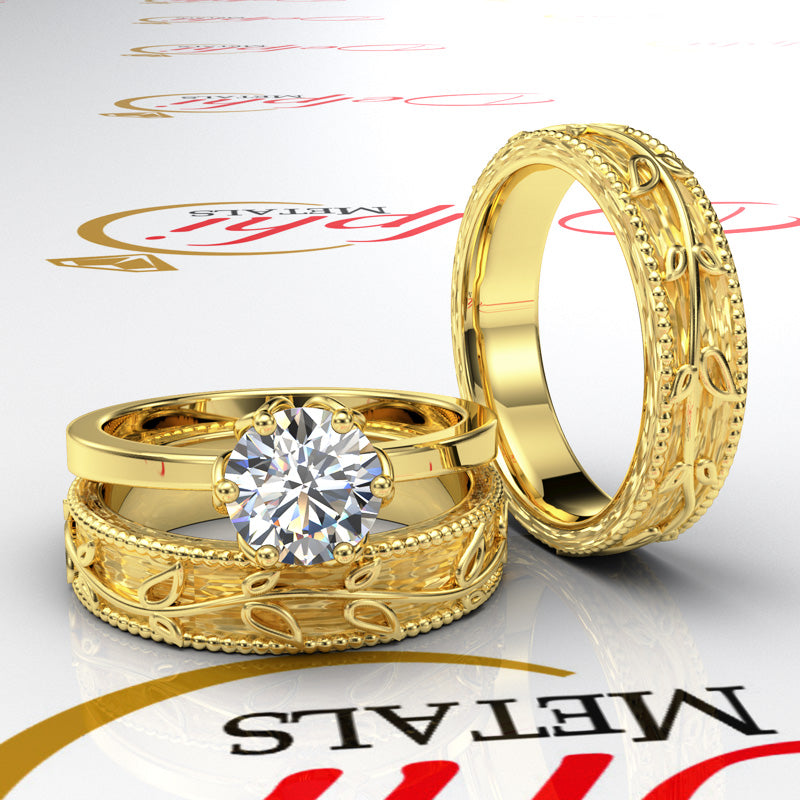 Gold Complete Leaf Style Wedding Set - 06GG48