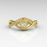 0.27ct Certified Diamond Infinity Gold Engagement Ring - 06GG52