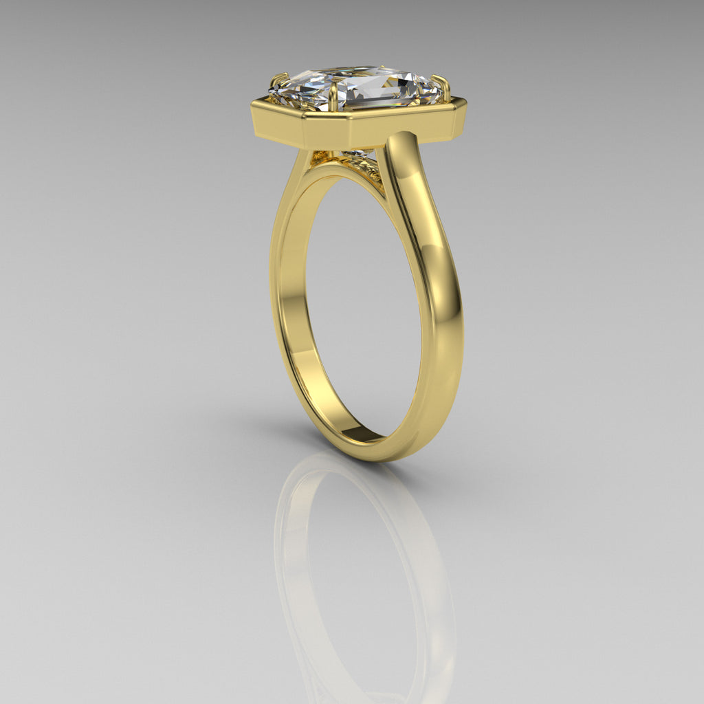 Radiant Cut Gold Engagement Ring - 06GG53