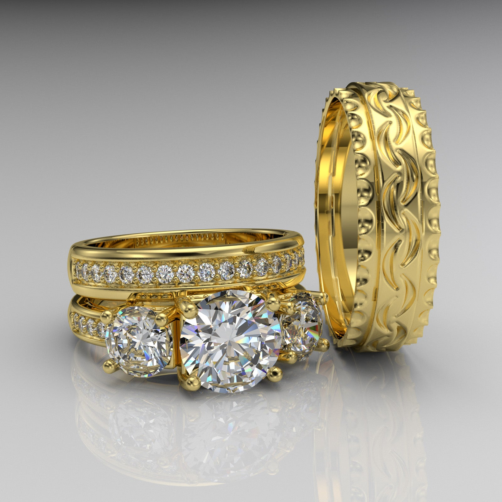 Gold Complete Wedding Set - 06GG54