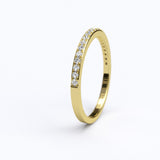 0.1ct Brilliant Cut Diamond Gold Half Eternity Stackable Wedding Anniversary Band Ring - 06GG65