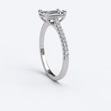 1.1ct Baguette Cut Diamond Gold Engagement Ring - 06GG72