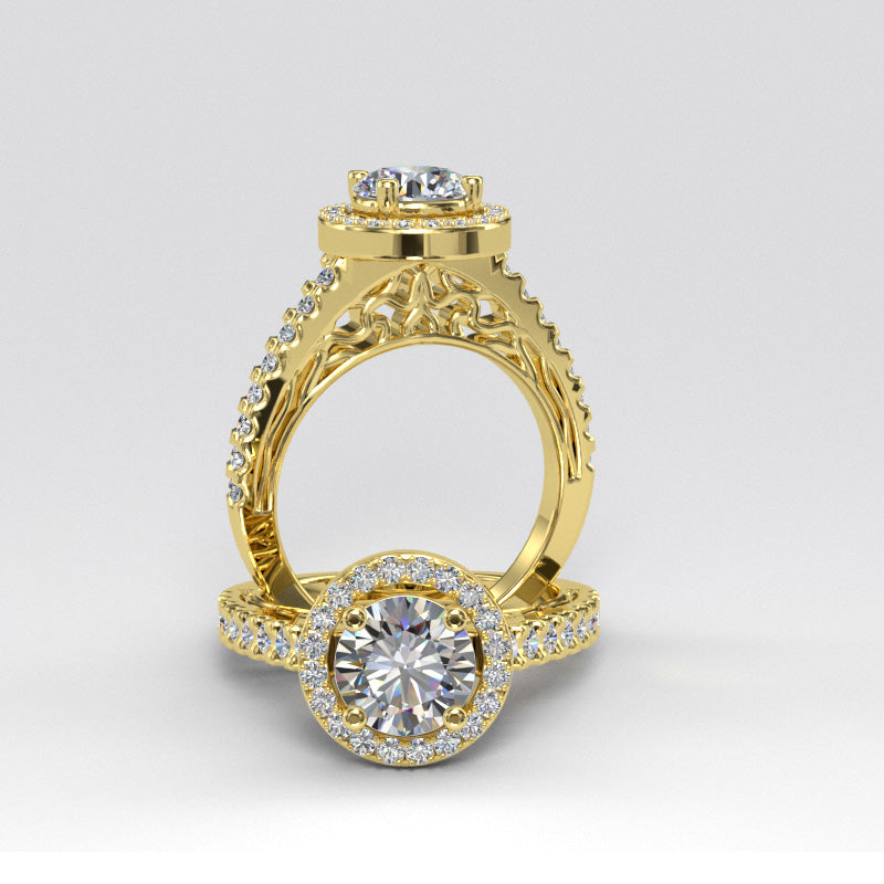 Gold Engagement Ring -- 06GG84