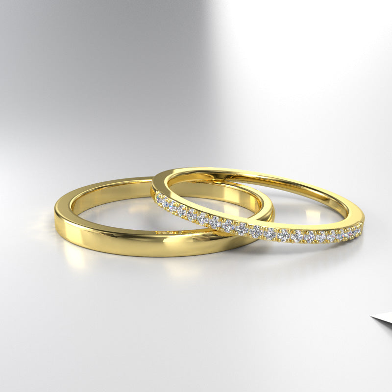 Gold Wedding Bands - 06GG85