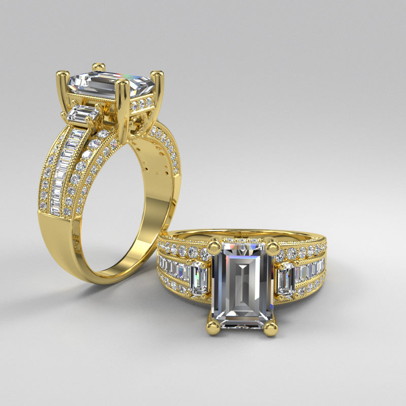 Gold Engagement Ring -- 06GG86