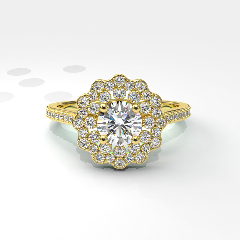 0.99ct Brilliant Diamond Gold Engagement Ring - 06GG89