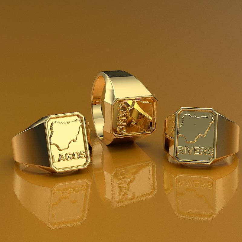 Custom Gold Signet Ring - 06GG93
