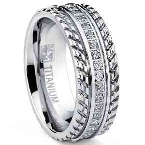 itanium Pave Set Wedding Band - 07AB28