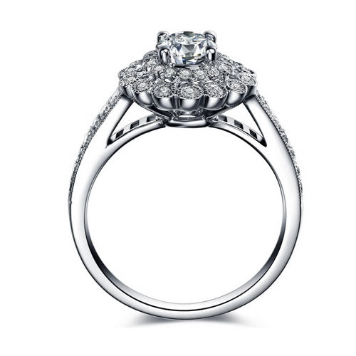 0.32 ct Cluster Diamond Engagement Ring - 07AB74