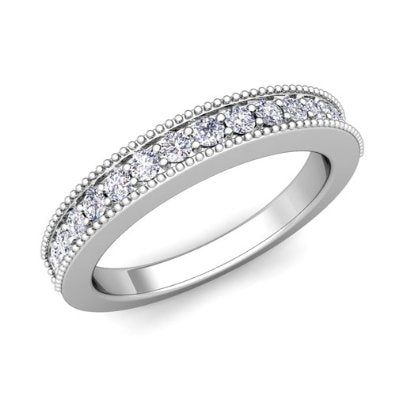 Diamond Wedding Band Ring in Platinum - 07SS09