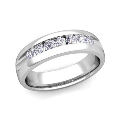 Diamond Wedding Ring Band in Platinum - 07SS13