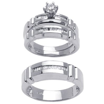 Platinum Wedding Set - 07SS15