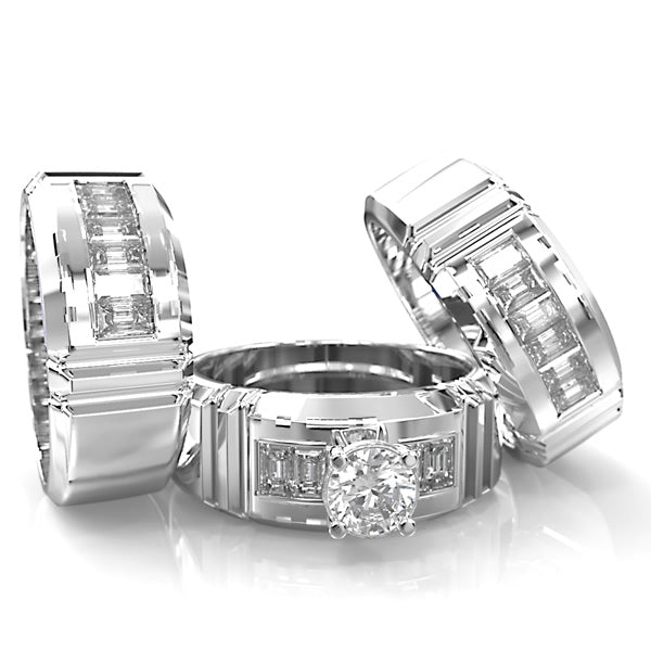 Platinum Wedding Set - 07SS18