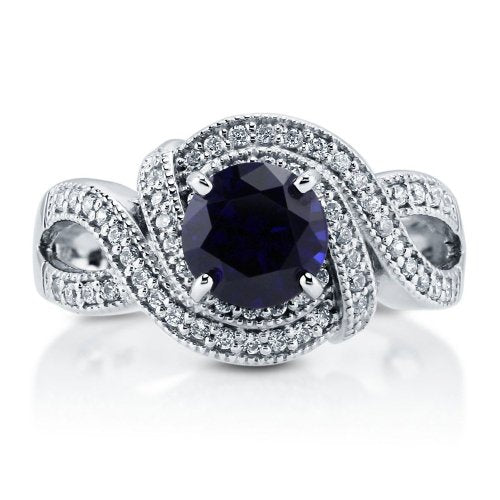 Sapphire 925 Engagement Ring - 08AB07