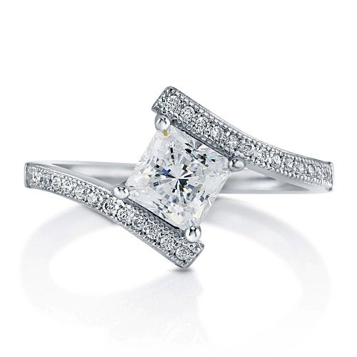 Princess Cut CZ Solitaire Engagement Ring - 08AB08