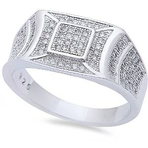Mens Sterling Silver Ring - 08AB42