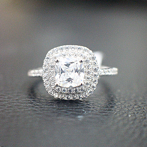 Sterling Silver Engagement Ring - 08AB64