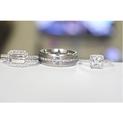Sterling Silver Wedding Set - 08AB89