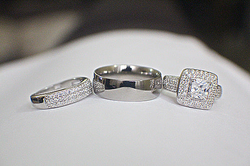 Sterling Silver Wedding Set - 08AB91