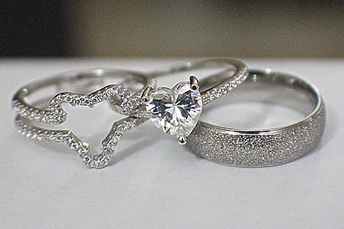 Sterling Silver Wedding Set - 08AB98