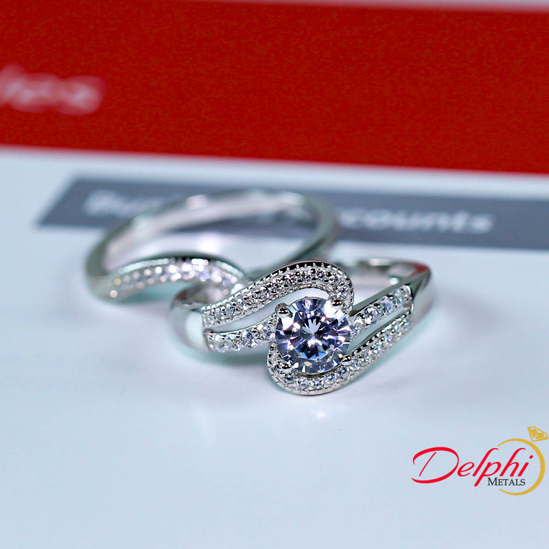 Sterling Silver Bridal Set - 08AS85