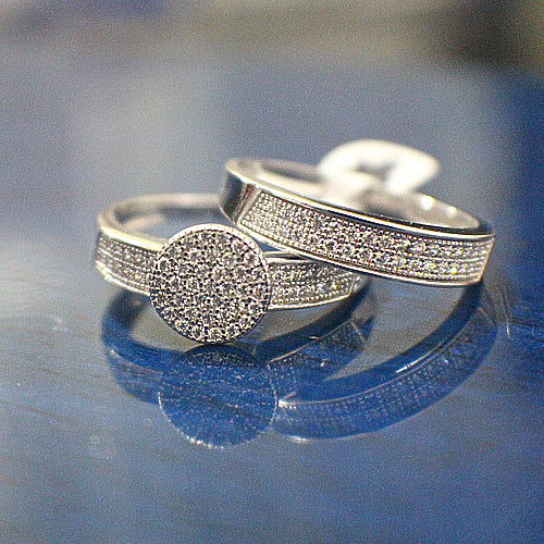 Sterling Silver Bridal Set - 09AB13