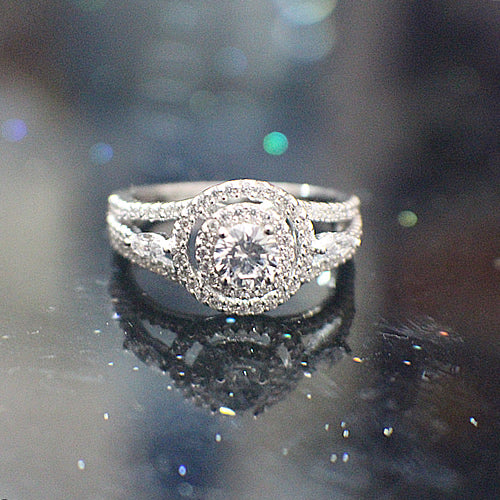 Sterling Silver Engagement Ring - 09AB16