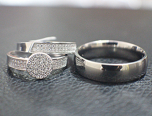 Sterling Silver Wedding Set - 09AB22