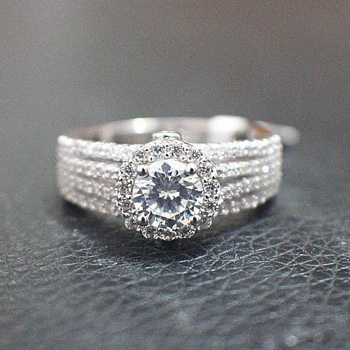 Sterling Silver Engagement Ring - 09AB23