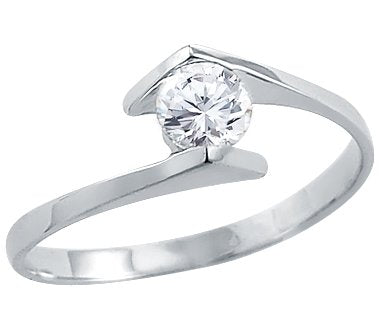 White Gold Ladies Solitaire Engagement Ring