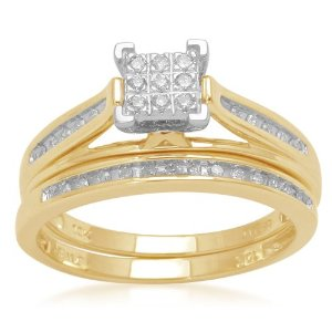 GOLD/DIAMOND BRIDAL SET