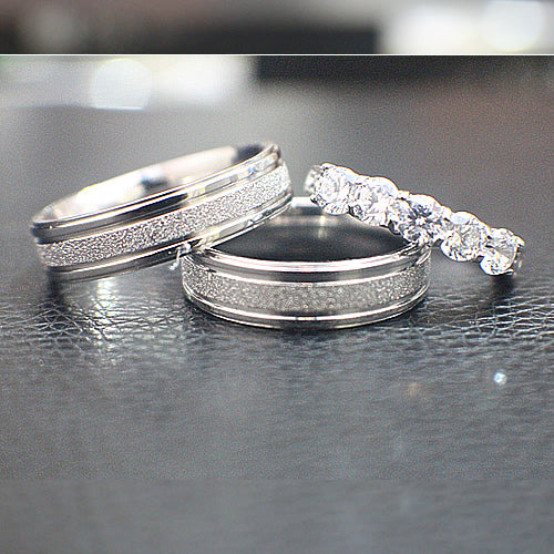 Titanium Wedding Set -10AB03