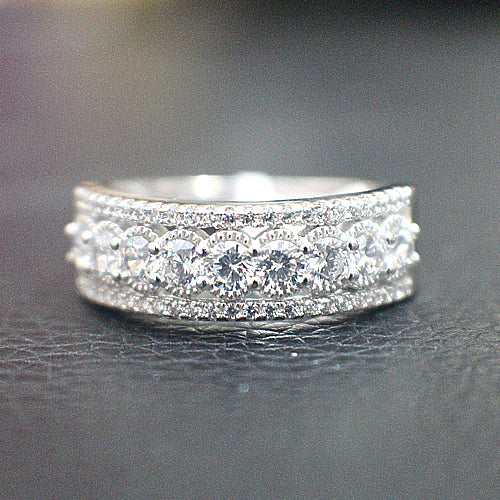 Sterling Silver Wedding Band - 10AB13