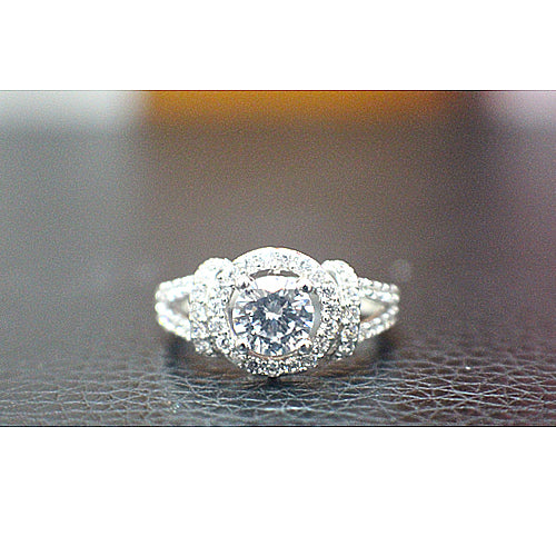Sterling Silver Engagement Ring - 10AB29