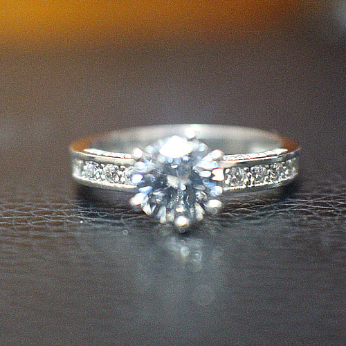 Sterling Silver Engagement Ring - 10AB30