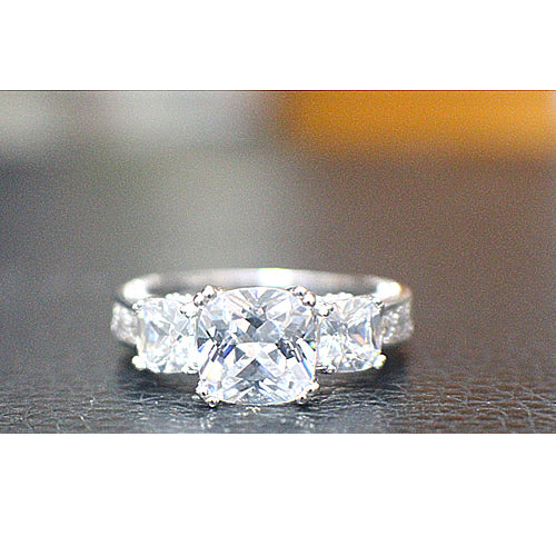 Sterling Silver Engagement Ring - 10AB41