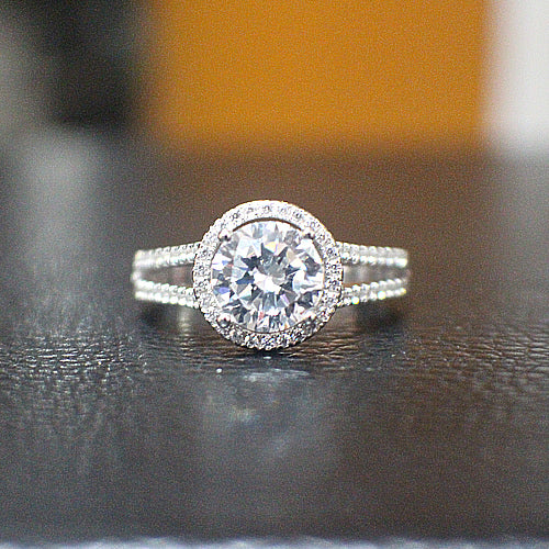 Sterling Silver Engagement Ring - 10AB45
